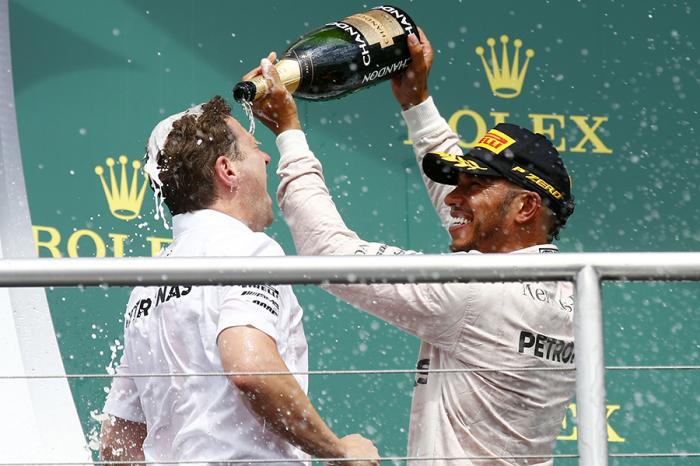 Lewis Hamilton從頭贏到尾