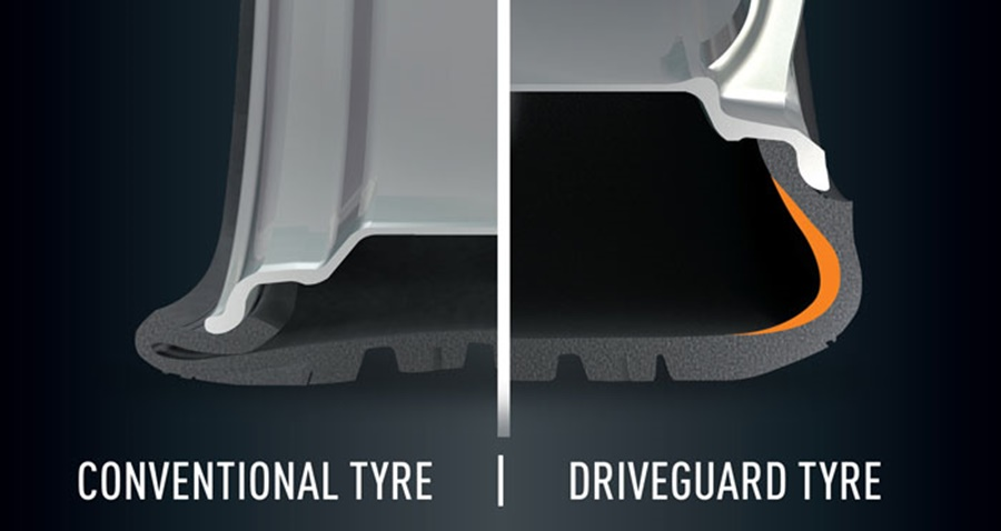 bridgestone-driveguard-vs-normal-tyre