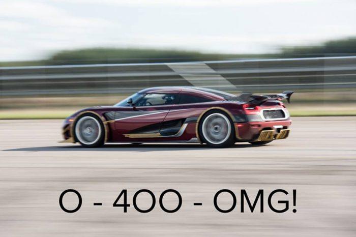 Bugatti Chiron的0-400-0 km/h王座保得住嗎?強敵Koenigsegg指名挑戰!