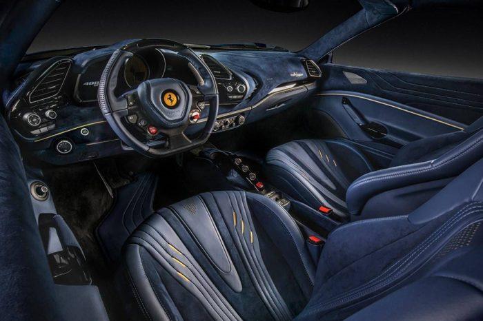 透過Carlex-Design的巧手,沐浴在高級皮革和麂皮之中的Ferrari 488 Spider更加動人了!