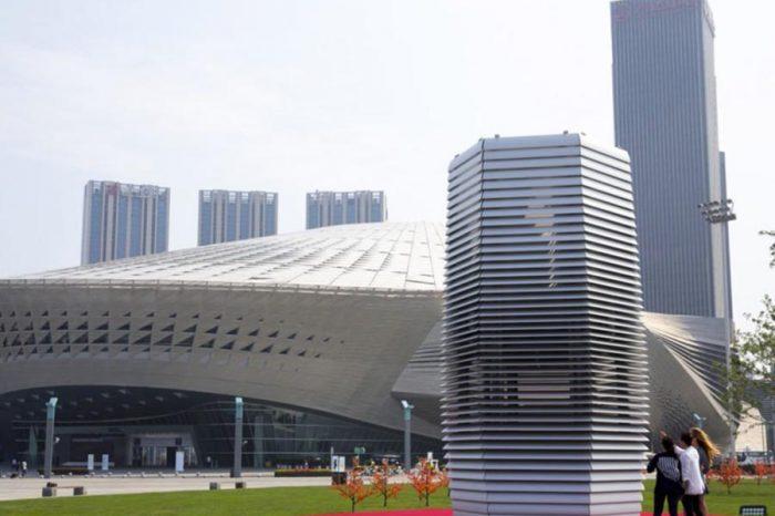2層樓高的空氣清淨機 超強PM2.5殺手!