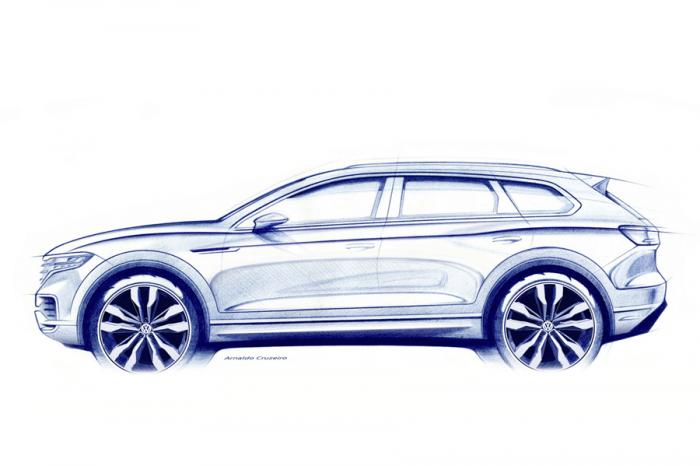 第三代VW Touareg手繪稿流出!