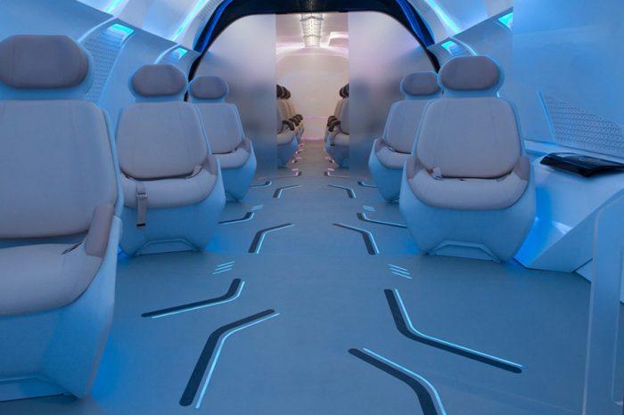 BMW替Virgin的Hyperloop One超迴路列車設計了優美又具未來感的車艙!