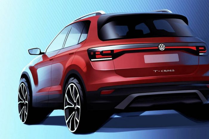 2019 Volkswagen T-Cross首次公布部分設計元素!