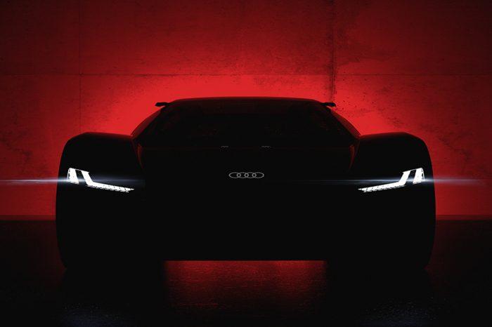 Audi PB 18 e-tron純電動概念超跑 2018 美國圓石灘車展全球首演