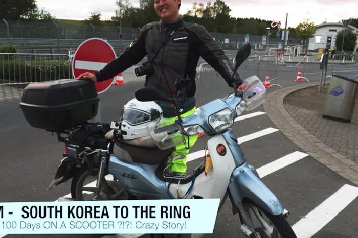 速克達騎1.8萬公里 韓國歐爸圓夢紐柏林
