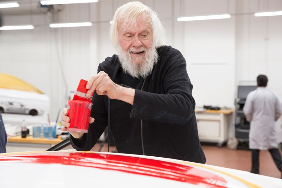 Painting of John Baldessari Art Car.