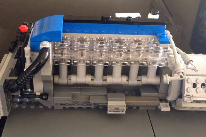 Lego的玩家展現高度創意弄了一組可動式Ford Falcon 4.0升直6渦輪引擎!