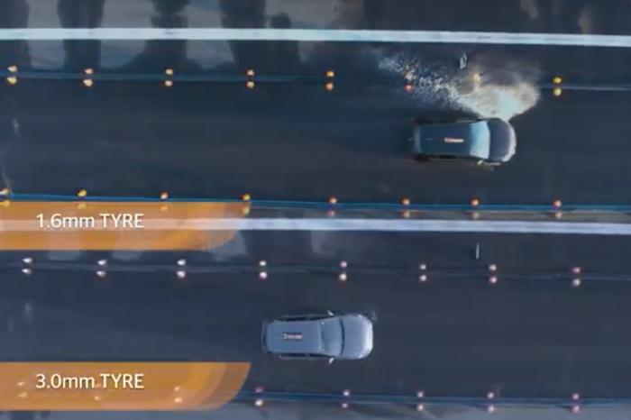 馬牌輪胎用影片告訴你 胎紋深度只差一點 煞車距離差好多點!
