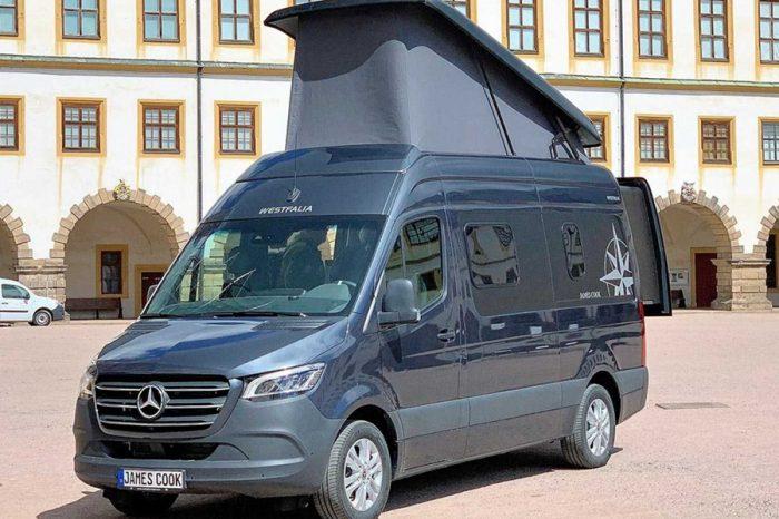 Westfalia James Cook露營車利用滑動式床鋪來呈現寬敞的空間