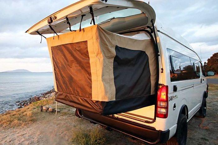 Bus 4x4推出了能巧妙利用RV空間的收放式床鋪帳篷