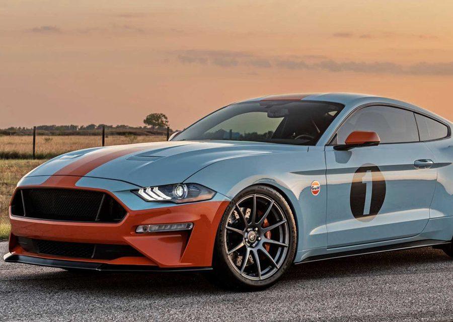 懷舊彩繪的Gulf Heritage Mustang擁有800HP的最大馬力