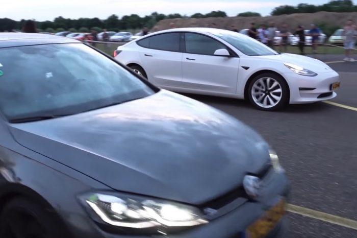 影/VW Golf R如何秒殺了Tesla Model 3?