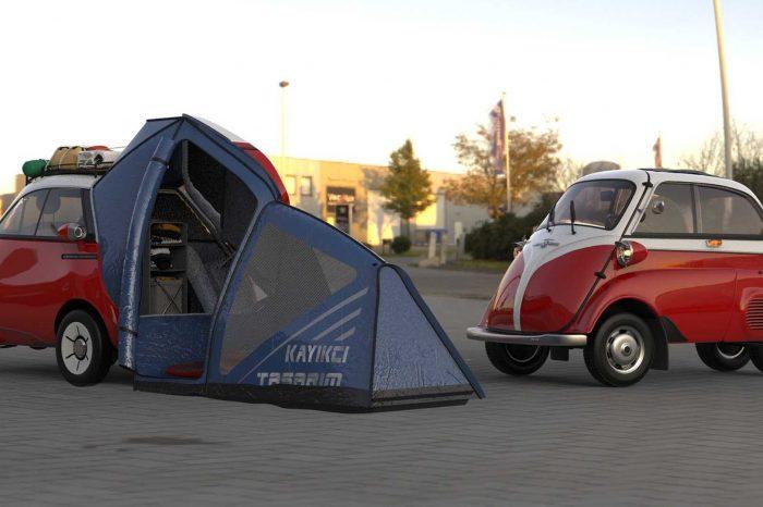 超可愛的 Microlino 露營概念車